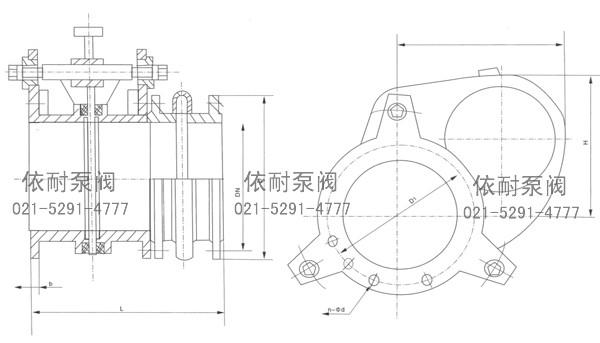 5/1.5/2.5手动扇形盲板阀图片